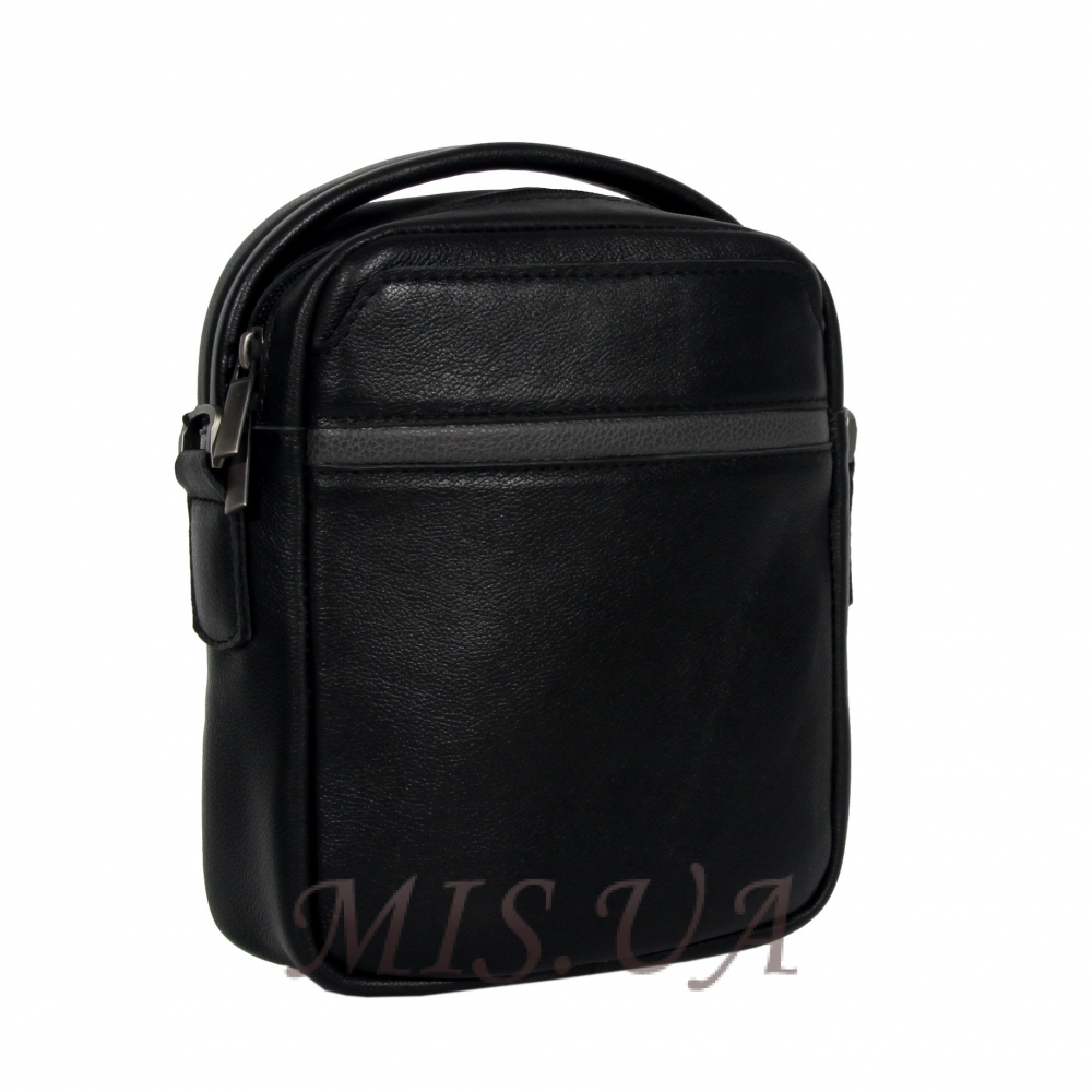 Men's leather bag 4608 black