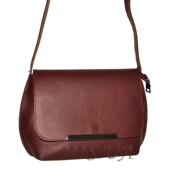 Женская кожаная сумка 2483 бордовая