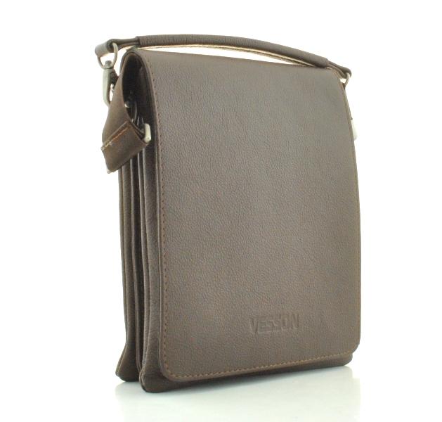 Мужская кожаная сумка 4266 коричневая