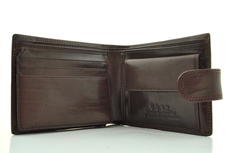 Men's wallet 17438 dark brown