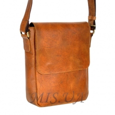 Men's leather bag 4392 orange