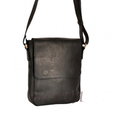 Men's leather bag 4392 is black