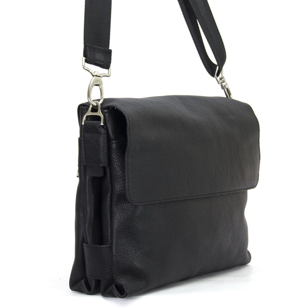 Men's leather handbag 4202 black