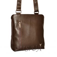 Men's leather handbag 4323 is brown