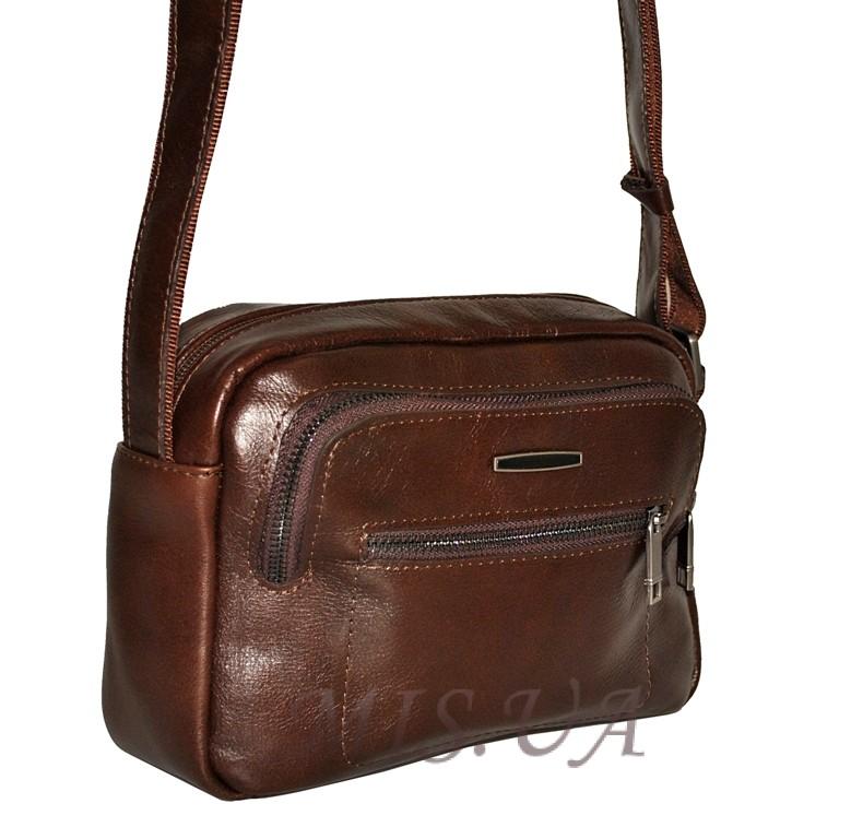Чоловіча сумка із натуральної шкіри 4388 коричнева 2044e5c2c13e1