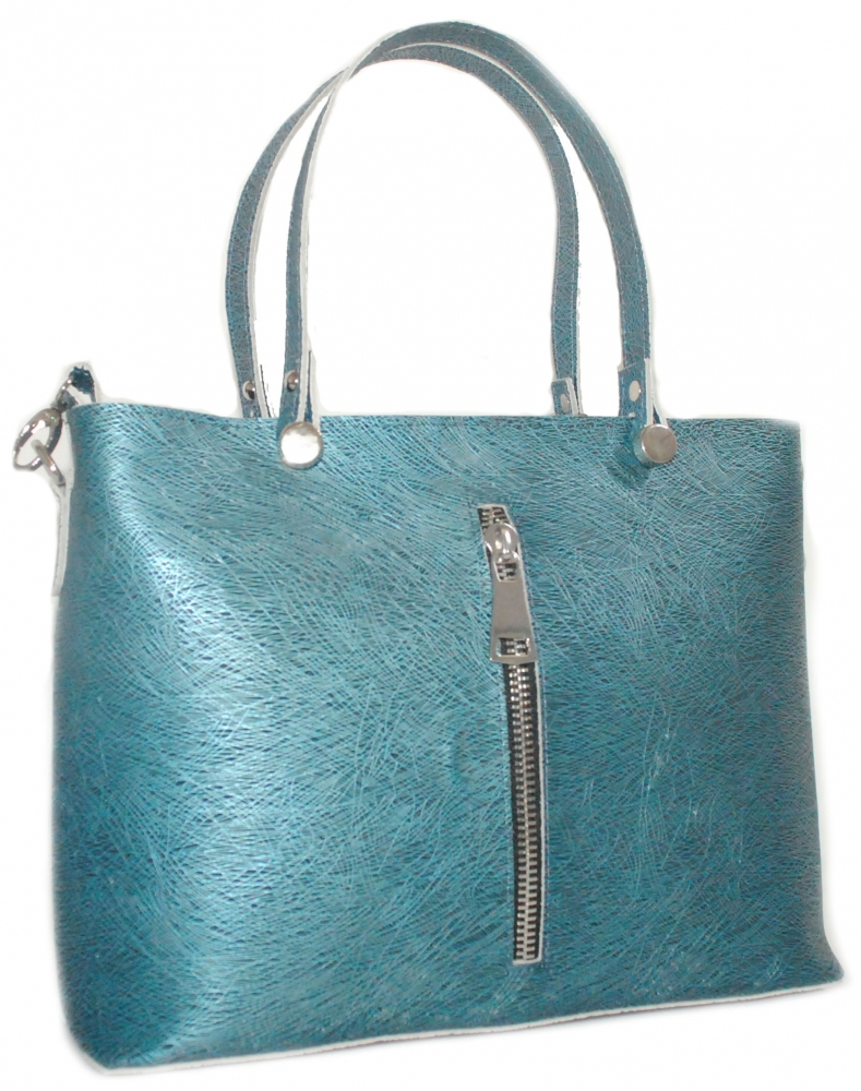 Women's bag 2521 blue metal