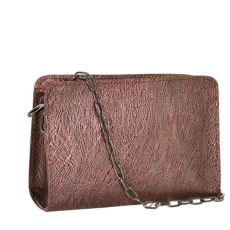 Women Bag 2435  burgundy embossed