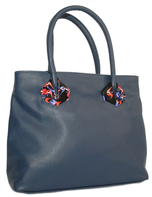 Women's handbag 35406 dark blue
