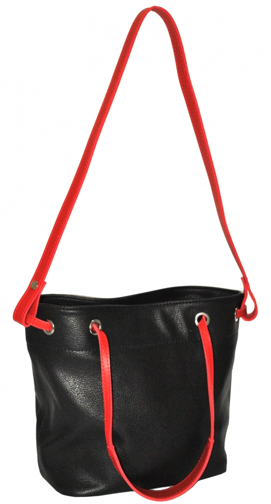 Women's bag 35492 black and red