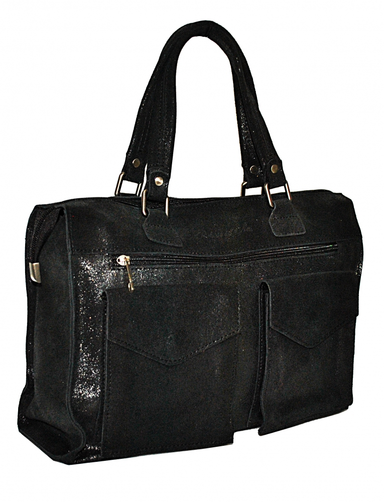 Men's leather bag 4267 black