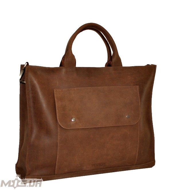 Men's leather bag 4254 brown