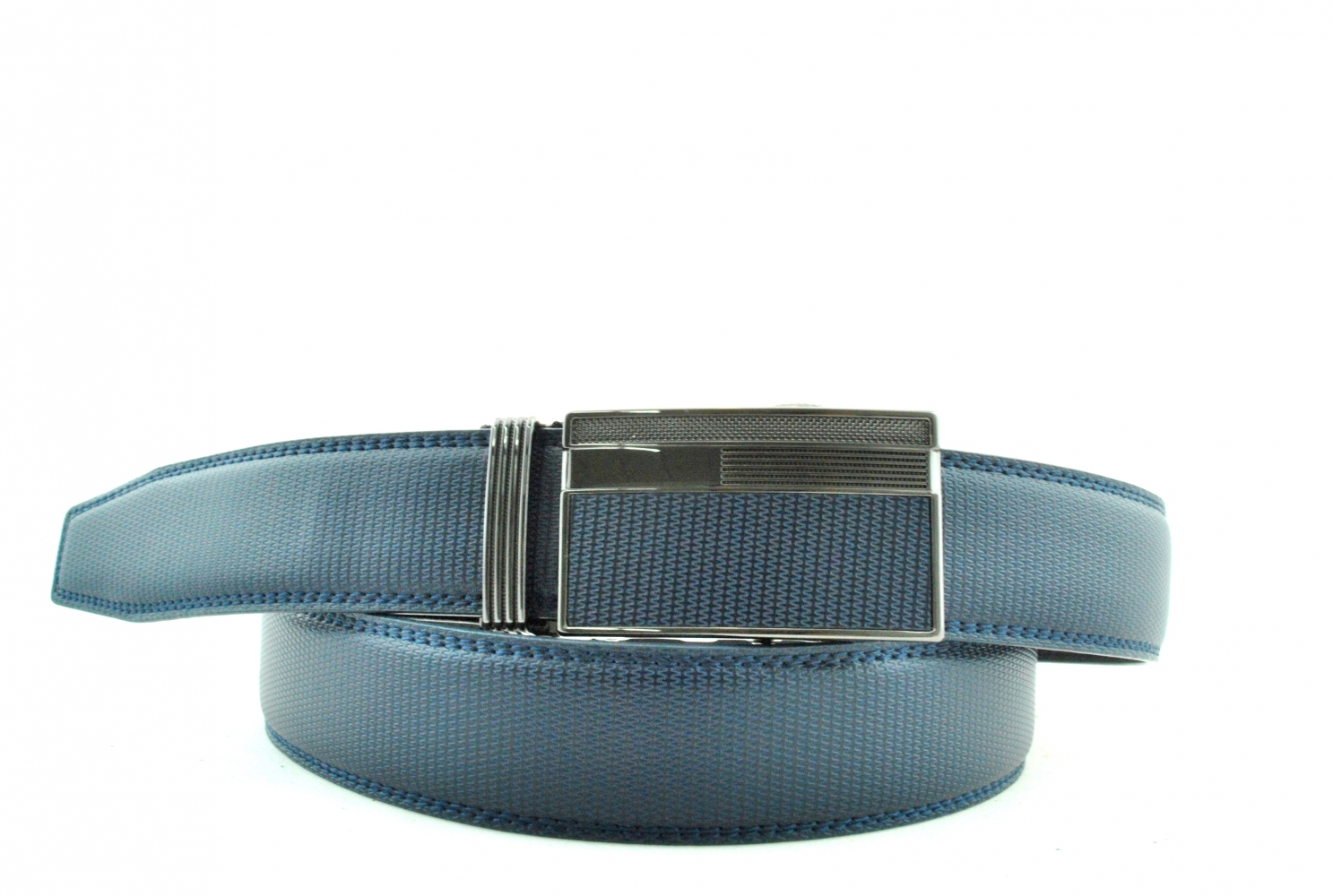 Men's belt 16355 blue
