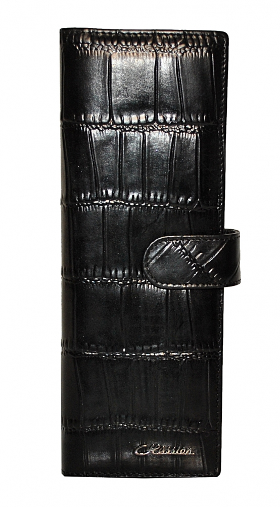 Business Card Holder 17631 black reptile
