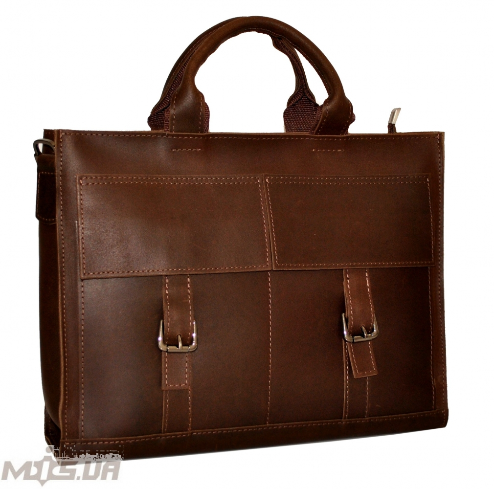 Men's leather bag 4252 brown 1