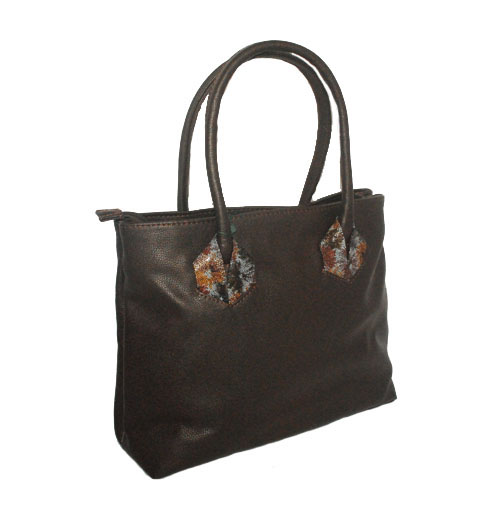 Women's handbag 35406 dark brown