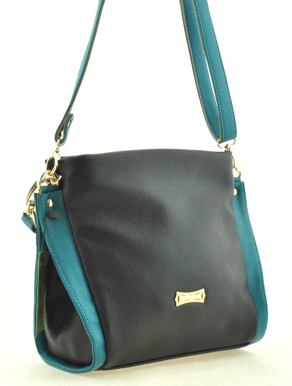 Women Bag 35334 black with turquoise