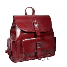 Female backpack 35818 burgundy
