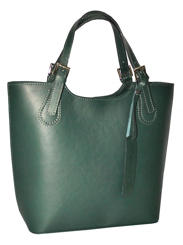 Женская кожаная сумка 19219 зеленая