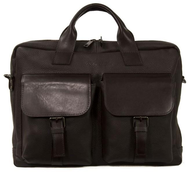 Мужской кожаный портфель 4293 темно-коричневый