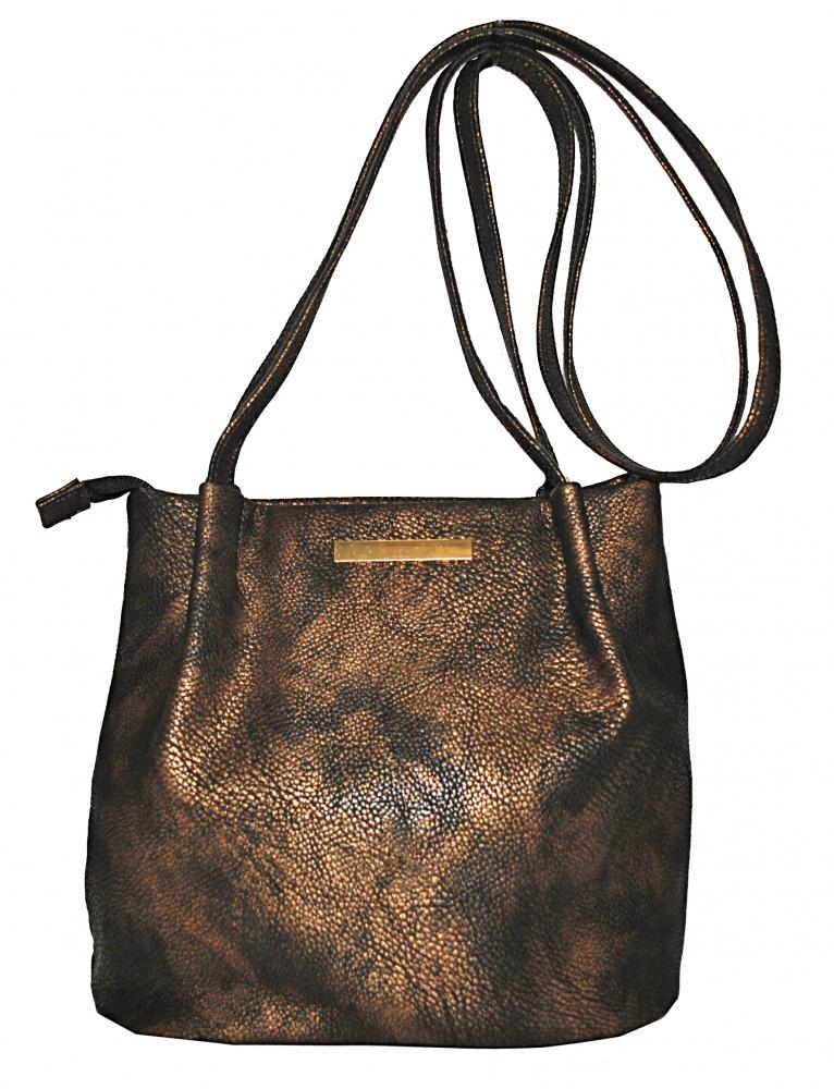 Женская сумка 35354 бронзовая