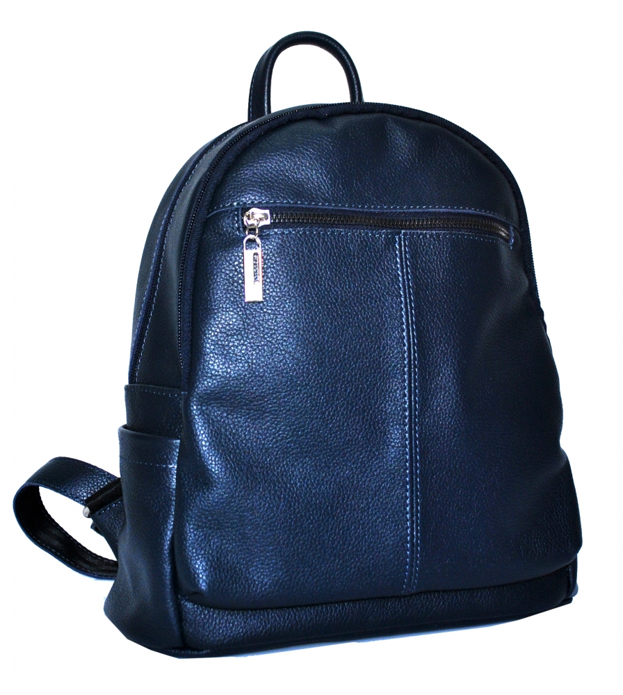Leather backpack 2523 blue