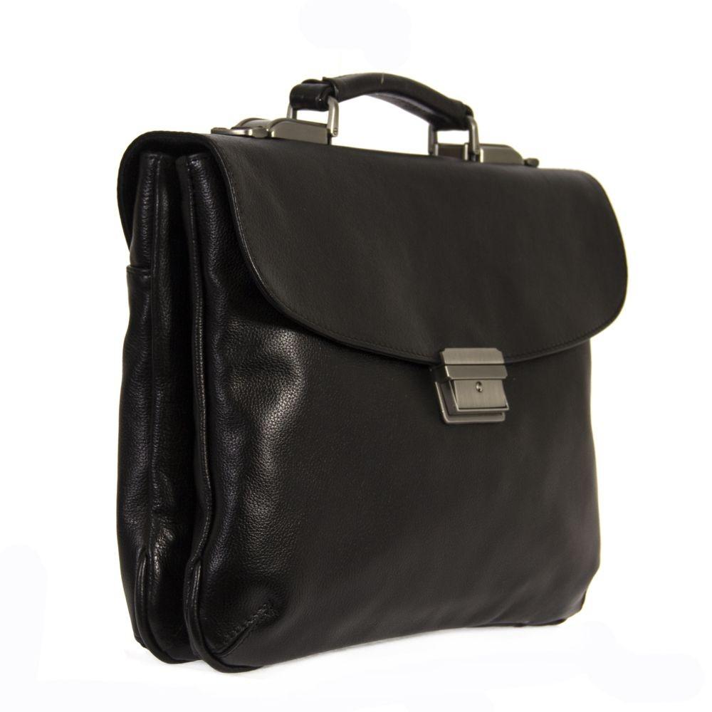 Кожаный портфель 4482 черный