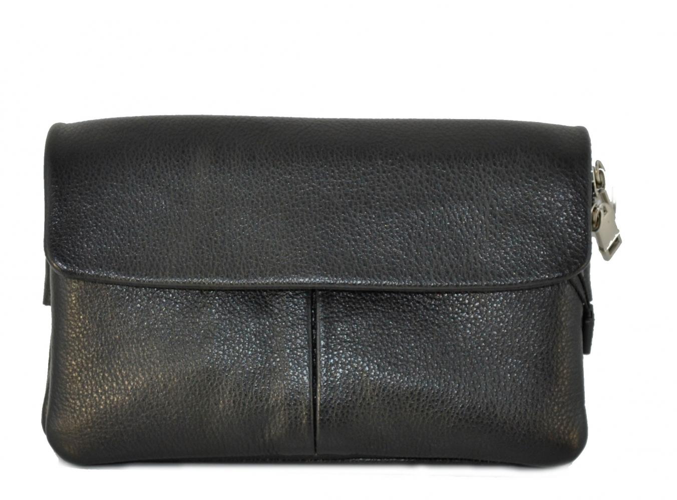 Мужская сумка из натуральной кожи Vesson 4119 черная