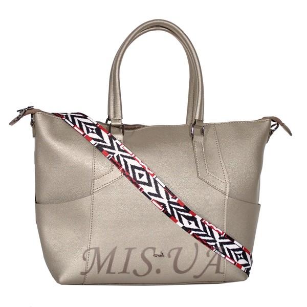 Жіноча сумка 35643 срібна