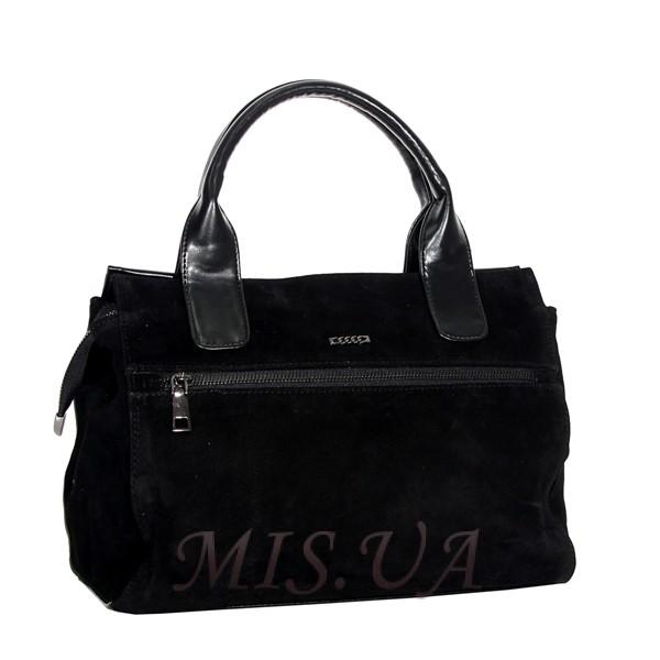 Женская замшевая сумка MIC 0685 черная