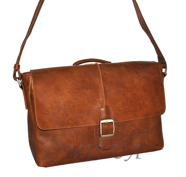 Мужской кожаный портфель 4381 рыжий