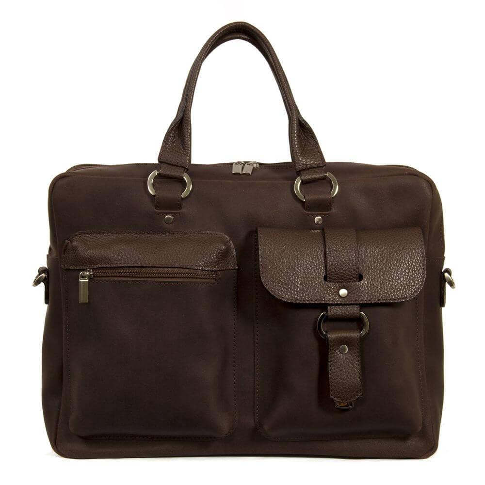 Мужской кожаный портфель 4295 коричневый