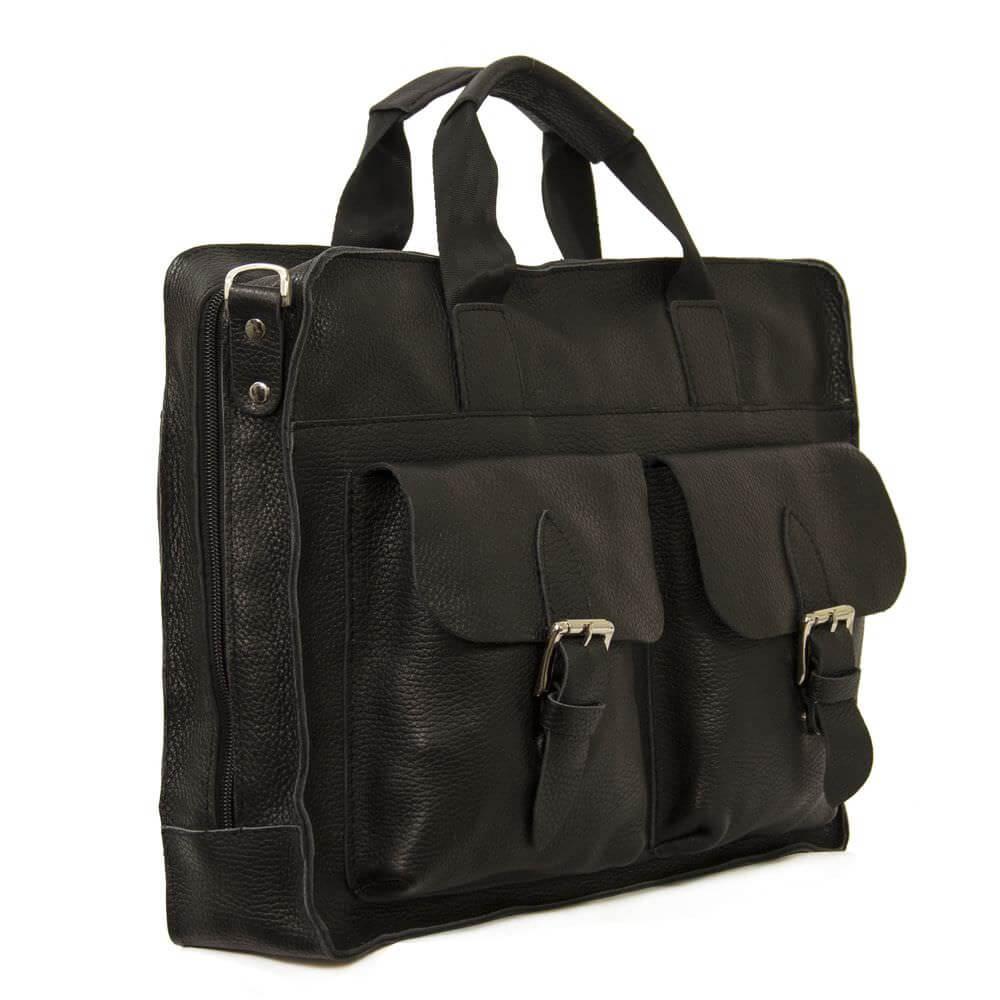 Мужской кожаный портфель 4301 черный