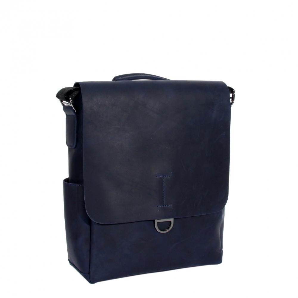 Мужская кожаная сумка Vesson 4626 cиняя