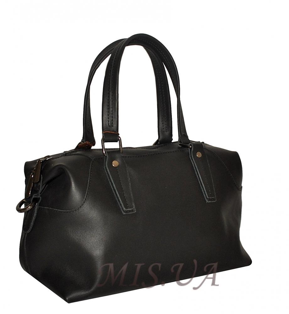 Женская сумка комбинированная 0657 черная
