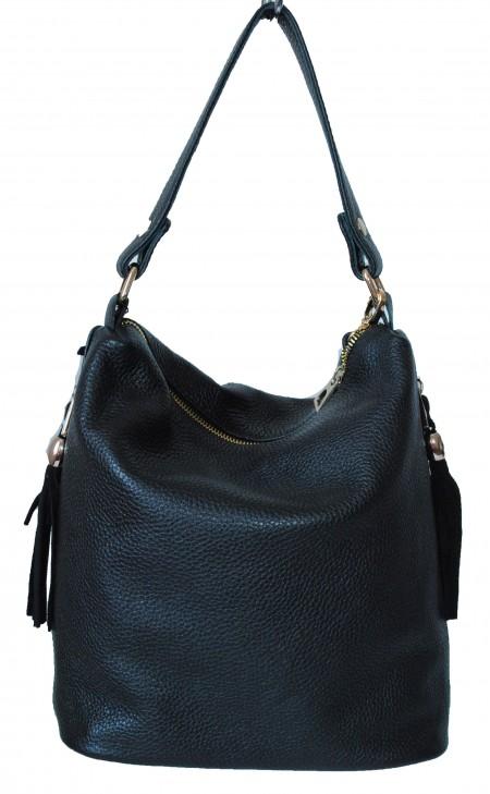 Женская кожаная сумка 2447 черная