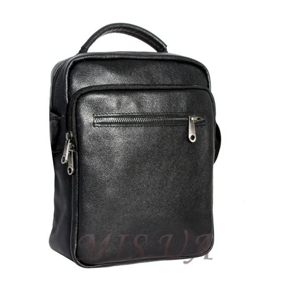 Мужская кожаная сумка Vesson  4575 черная