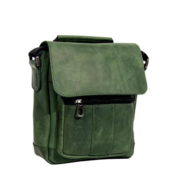 Мужская кожаная сумка Vesson 4639 зеленая