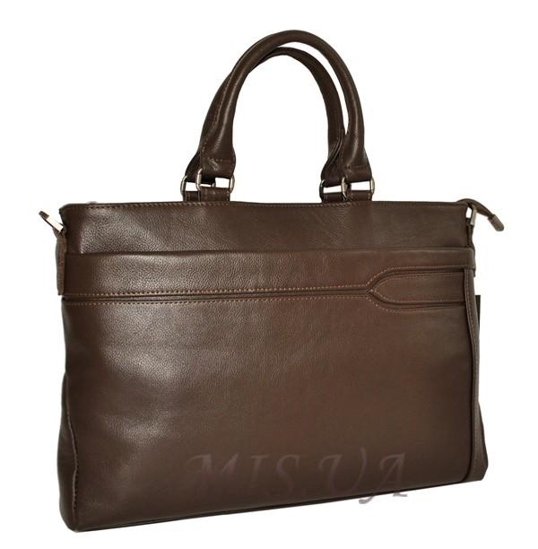 Мужской кожаный портфель 4507 коричневый