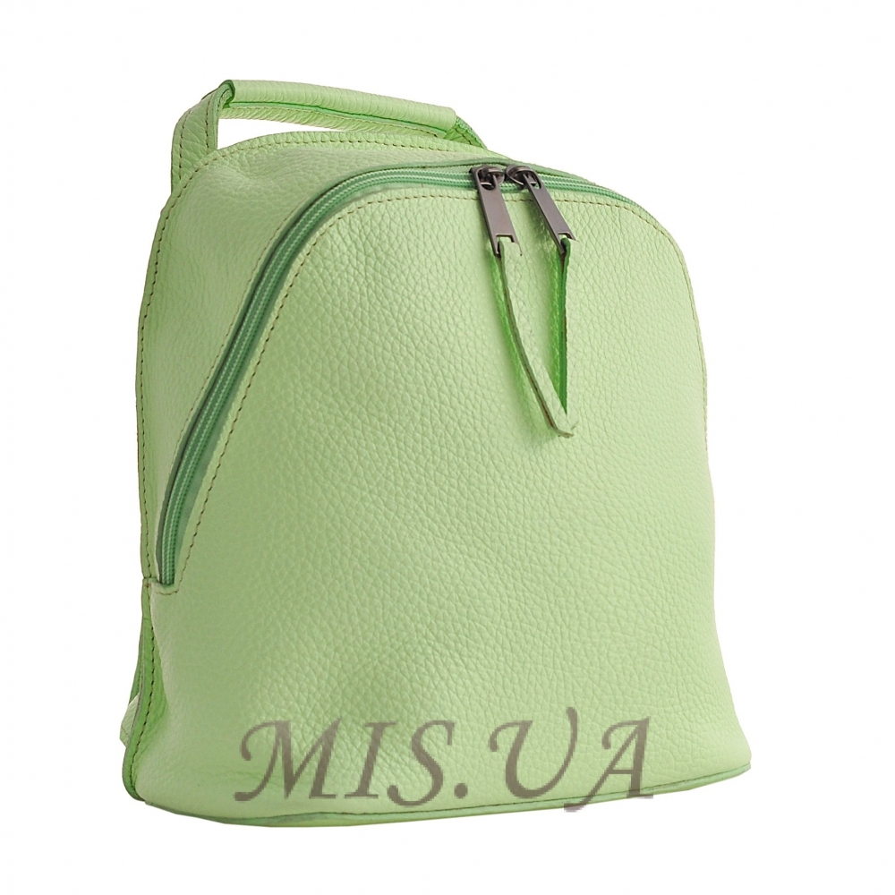Городской кожаный рюкзак МІС 192509 мятный
