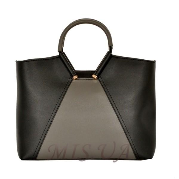 Женская сумка 35601 черная с серым