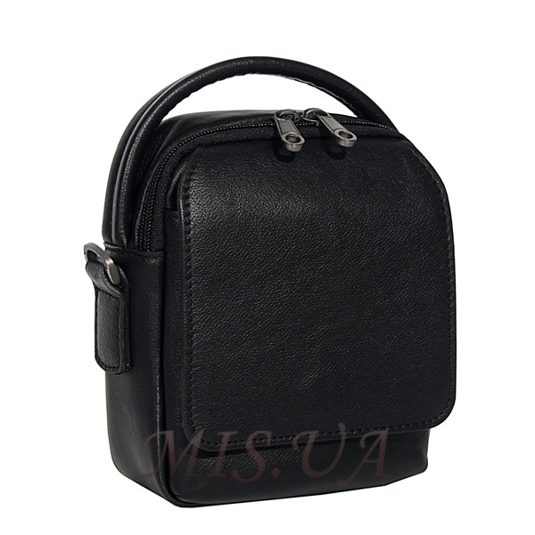 Men's leather bag 4604 black