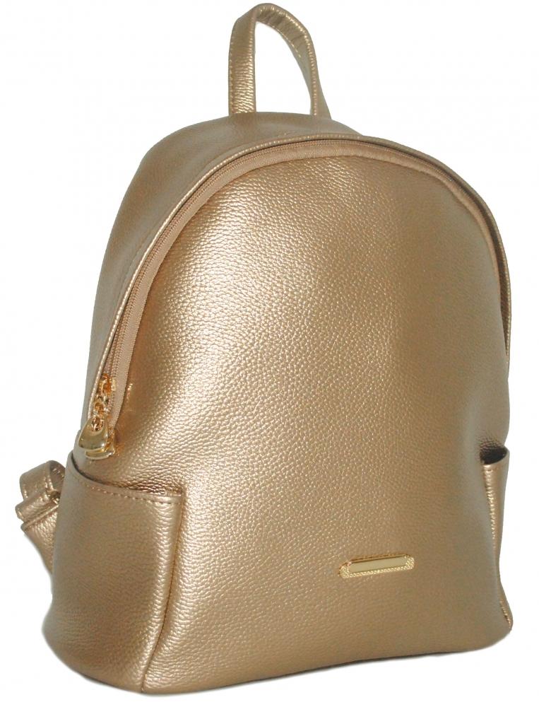 Женский рюкзак 35432 золотистый