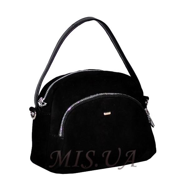 Женская замшевая сумка МІС 0710 черная