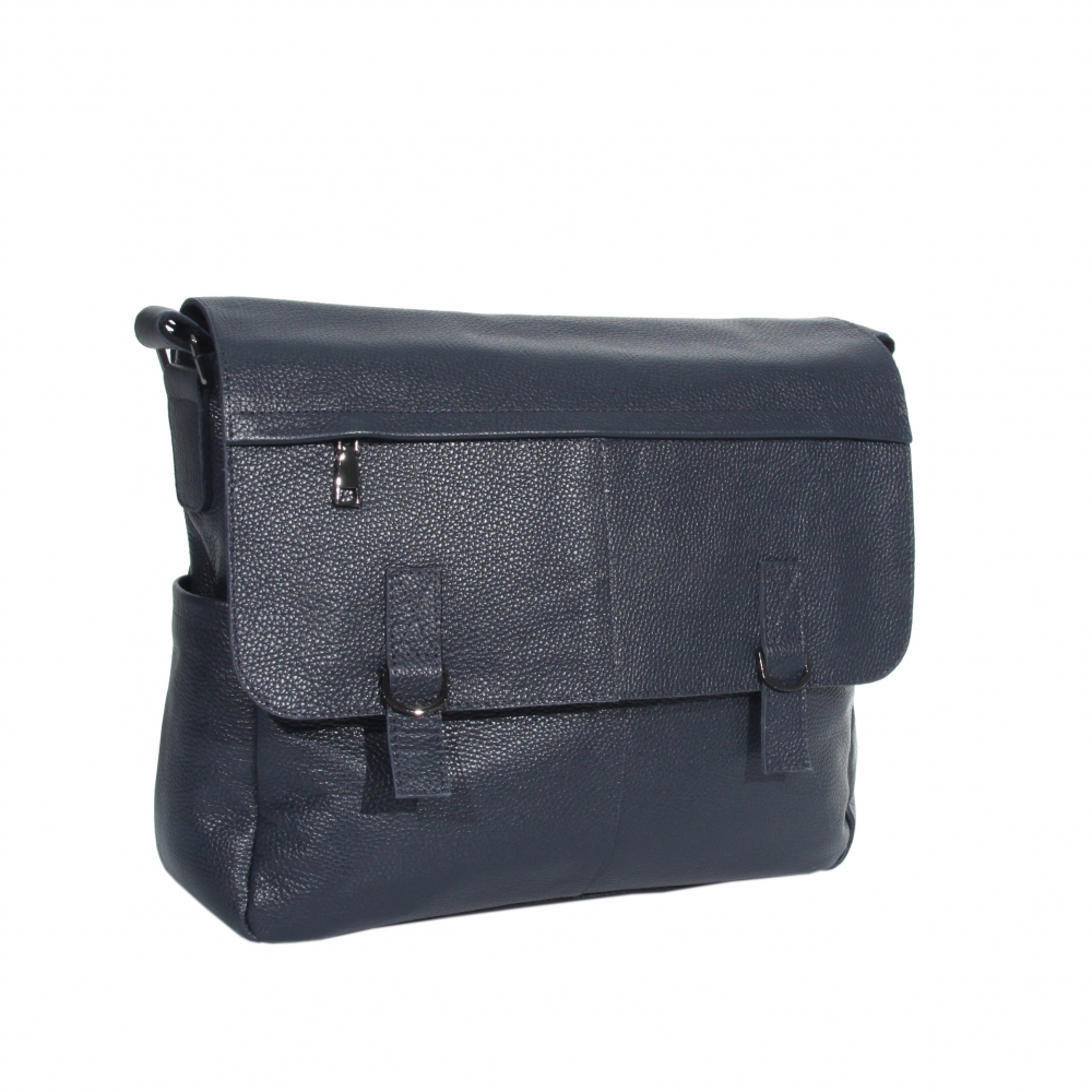 Мужская кожаная сумка Vesson 4625 синяя