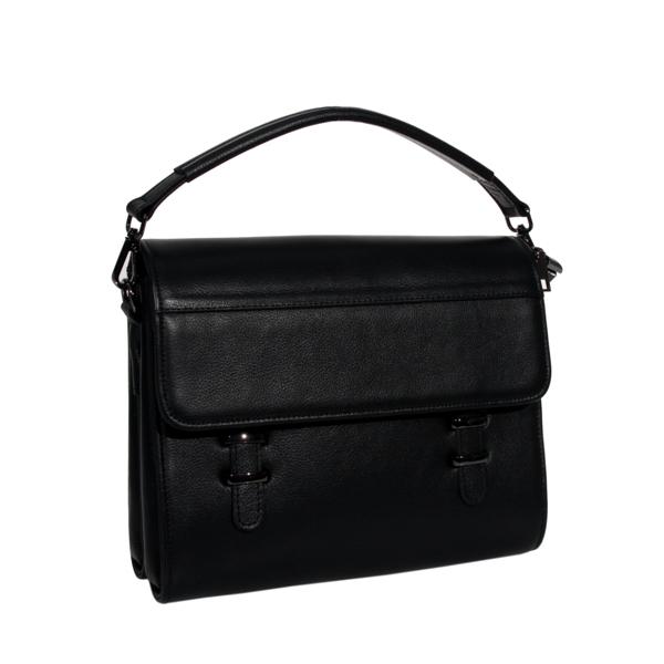 Мужская кожаная сумка-портфель Vesson 4206 черная