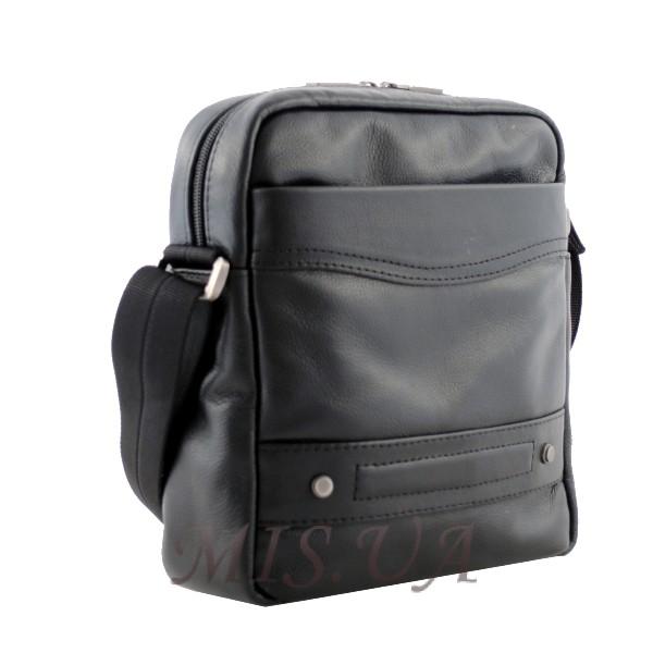 Мужская кожаная сумка Vesson  4571 черная