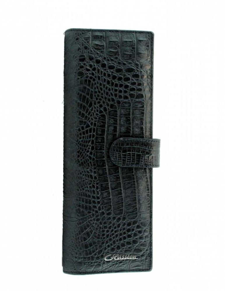 Визитница 17631 черный крокодил