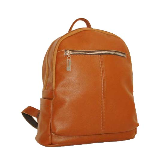 Leather backpack 2523 brown