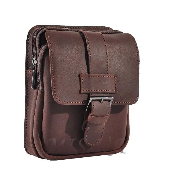 Мужская кожаная сумка Vesson 4558 коричневая
