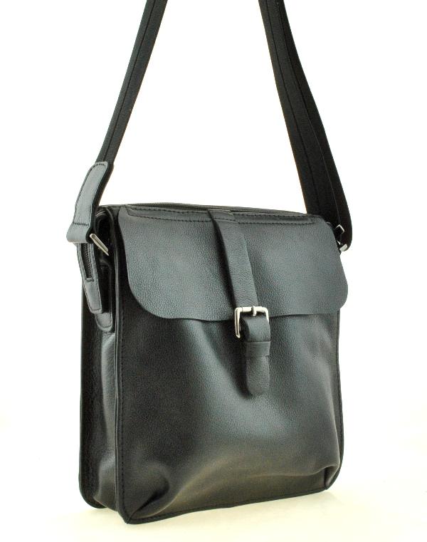 Мужская кожаная сумка 4296 черная